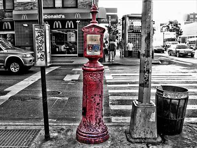 Photograph - Fire Call Box by Bennie Reynolds