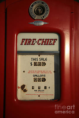 Gas Price Photograph - Fire-chief Red by Timothy Johnson