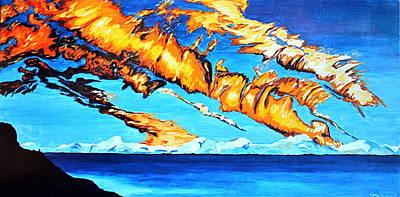 Fire Clouds Art Print
