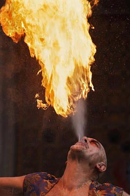 Photograph - Fire Eater 2 by Raffaella Lunelli