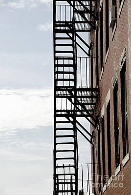 Massachusetts Photograph - Fire Escape In Boston by Elena Elisseeva