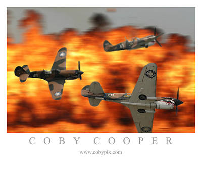 Photograph - Fire Fight by Coby Cooper