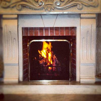 #fire #fireplace #classic #igaddict Art Print