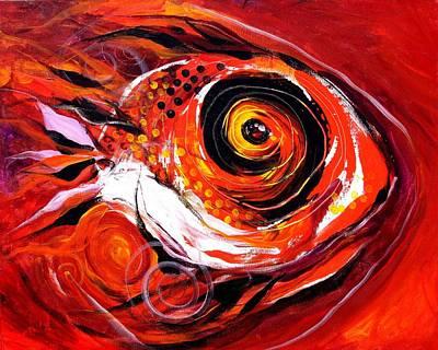 Fire Fish V Art Print