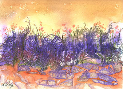 Painting - Fire Flowers by Audrey Peaty