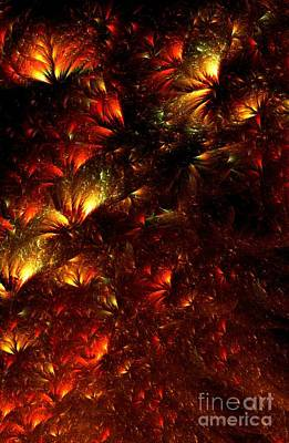 Abstract Digital Art Digital Art - Fire-flowers by Klara Acel