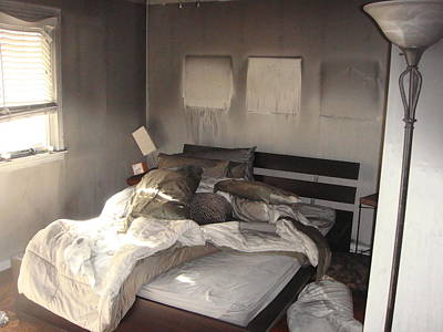 Fire In The Bed Art Print by Matthew Slowik