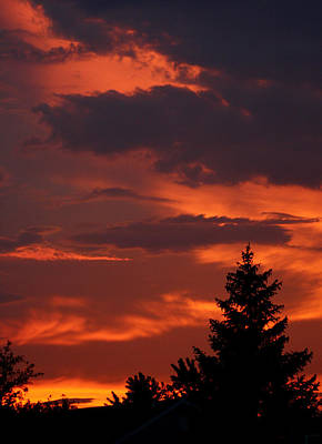 Sillouhuette Photograph - Fire In The Night by Dan McCafferty