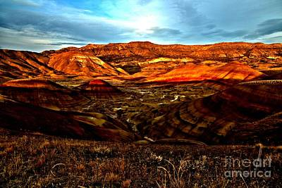 Photograph - Fire In The Painted Hills by Adam Jewell