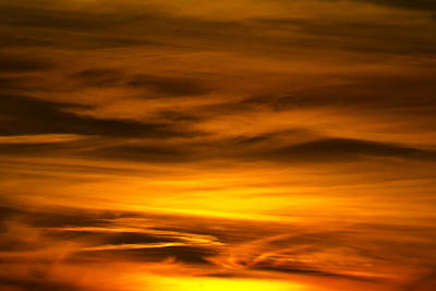 Photograph - Fire In The Sky by Nicholas Evans
