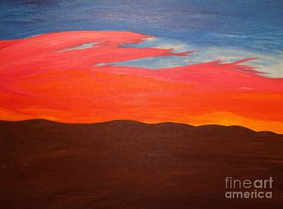 Red Sky Painting - Fire In The Sky by Tyler Martin