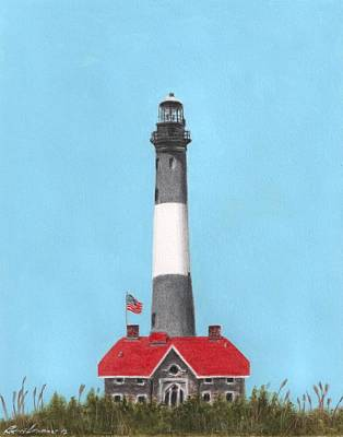 Fire Island Lighthouse Original by Bruce Lennon