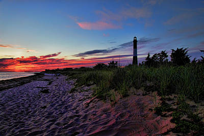 Guiding Light Photograph - Fire Island Sunrise by Rick Berk