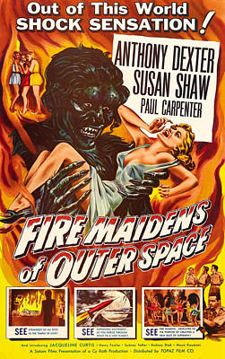 Fire Maidens Of Outer Space, 1956 Art Print by Everett