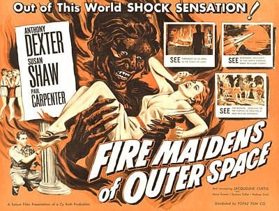 Fire Maidens Of Outer Space, Lower Left Art Print