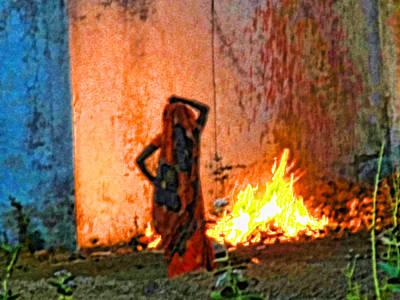 Fire Art Print by Makarand Purohit