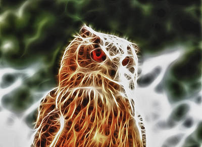 Fire Owl Art Print by Tilly Williams