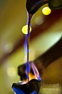 Pour Photograph - Fire Pour 1 by Darcy Evans
