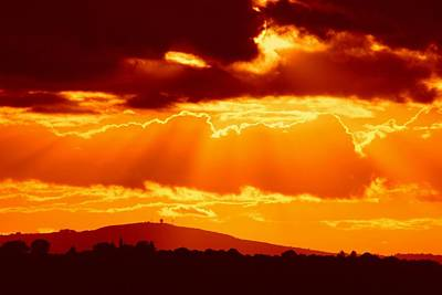 Photograph - Fire Sky by Ed Lukas