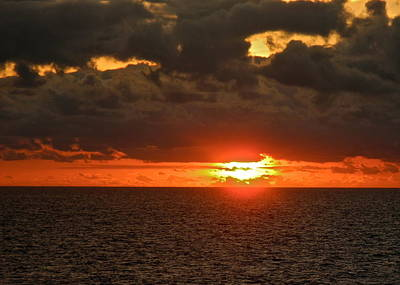 Photograph - Fire Sun On The Horizon by Kirsten Giving