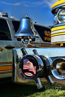 Fire Truck Bell Art Print by Paul Ward