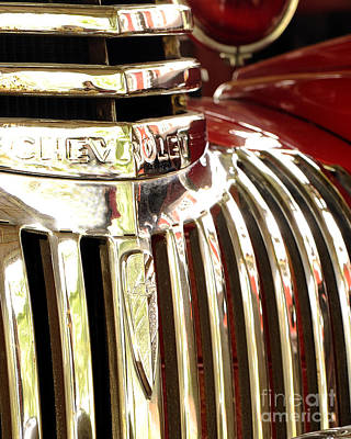Photograph - Fire Truck Grill  by Nancy Greenland