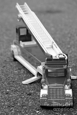 Toy Truck Photograph - Fire Truck Toy by Sophie Vigneault