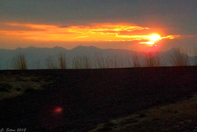Photograph - Fireball Sunrise by C Sitton