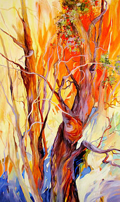 Art Print featuring the painting Fireglow by Rae Andrews