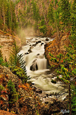 Limited Edition Photograph - Firehole Falls Le by Greg Norrell
