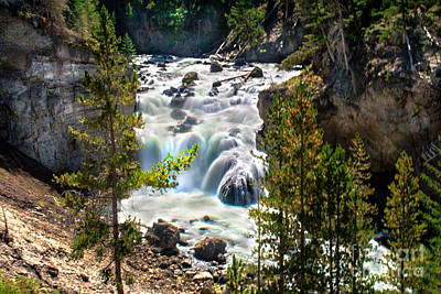 Photograph - Firehole River Falls by Robert Bales
