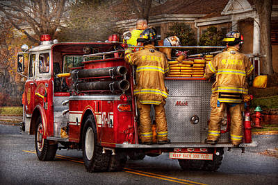 Photograph - Fireman - Metuchen Fire Department  by Mike Savad