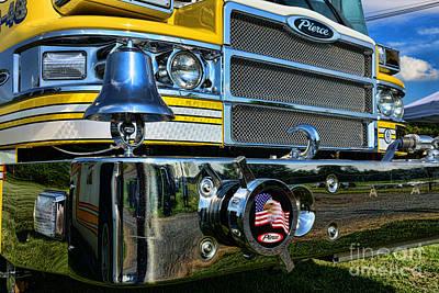 Fireman - Pierce Fire Truck Art Print by Paul Ward