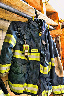 First Responders Photograph - Fireman - Saftey Jacket by Paul Ward