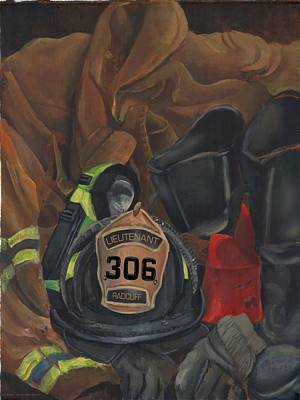 Painting - Fireman Commission  by Lee Hood