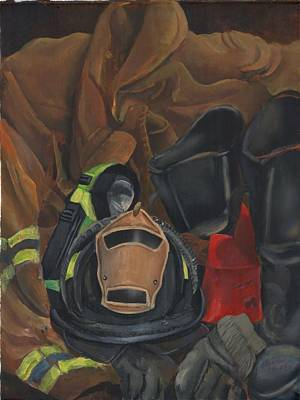 Painting - Fireman Personalized by Lee Hood