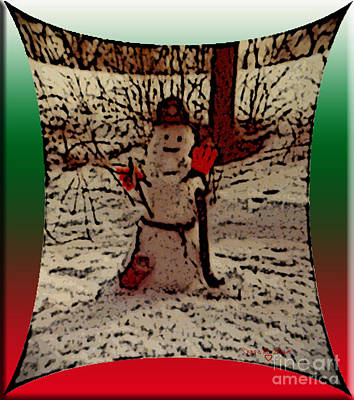 Photograph - Fireman Snowman by Donna Brown