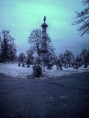 Firemans Monument Infrared Art Print