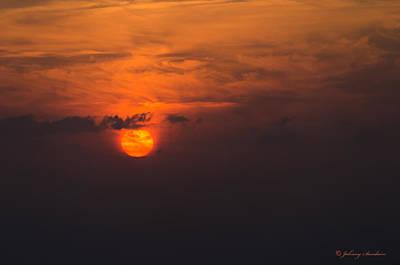 Firery Sunset Art Print