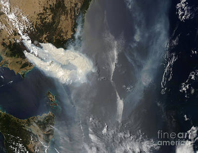 Fires And Smoke In Southeast Australia Print by Stocktrek Images