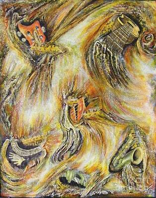 Fires Of Worship Art Print by Lisa Golem