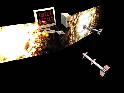 Firewall, Conceptual Computer Artwork Art Print by Christian Darkin