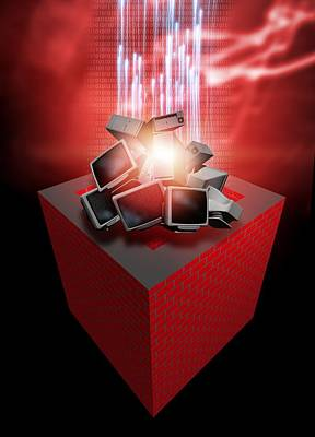 Firewall Protection, Conceptual Artwork Art Print by Victor Habbick Visions