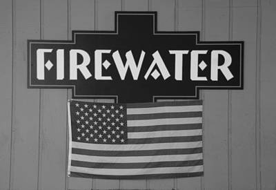 Photograph - Firewater In Black And White by Rob Hans