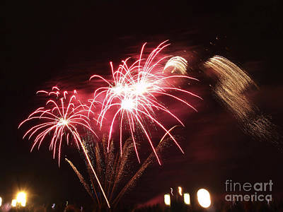 Photograph - Firework Display by Bernard Jaubert