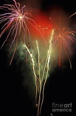 Bastille Day Celebration Photograph - Firework Display by Sami Sarkis