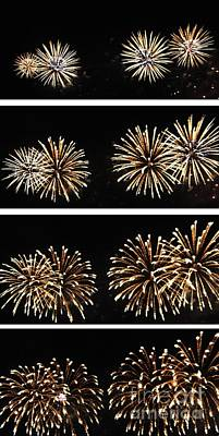 Pyrotechnics Digital Art - Firework Lifecycle 1 by Meandering Photography