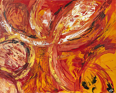 Firework Art Print by Thomas Kleiner