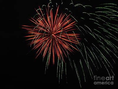 Photograph - Fireworks 03 by Ausra Huntington nee Paulauskaite