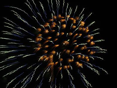 Photograph - Fireworks 1 by Judy Wanamaker